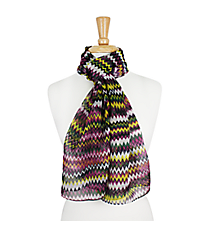 "64"" Purple and Yellow Multi-Color Chevron Scarf #AN0600-MT2"