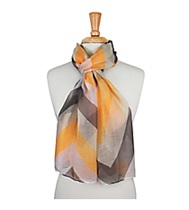 "72"" Orange and Gray Chevron Scarf #AN0603-JO"