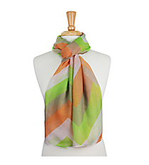 "72"" Orange and Lime Chevron Scarf #AN0603-MT1"