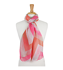 "72"" Pink and Coral Chevron Scarf #AN0603-P"