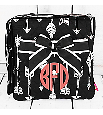 Straight & Arrow Black Quilted Crossbody #ARB1717-BLACK