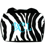 Zebra Insulated Bowler Style Lunch Bag #ZEB255-BLACK