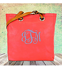Rose Leather Tall Shoulder Tote #B6013-ROSE