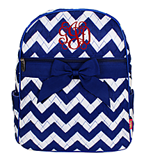 Royal Blue Chevron Quilted Large Backpack #ZCM2828-ROY/BL