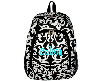 Damask with Black Trim Backpack #BP5016-501-B