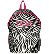Zebra Backpack with Pink Trim #LBP-2006-P