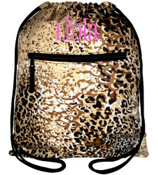 Leopard Print Drawstring Backpack #B6-1003