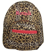 Leopard with Pink Trim Small Backpack #SBP-2008-P