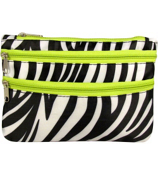 Zebra with Green Trim Travel Pouch #CB2-2006-G