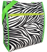 Zebra with Green Trim Shopper Tote #ST13-2006-G