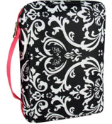 Damask with Pink Trim Bible Cover #G-2010-P