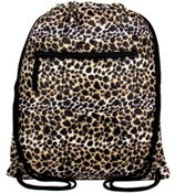 Leopard with Black Drawstring Backpack #SL-2008