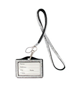 Clear Sparkling Crystal Lanyard with Luggage Tag #N139X006G6