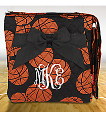 Quilted Basketball Crossbody Bag #BAQ1717-BLACK
