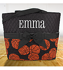 Basketball Quilted Diaper Bag with Black Trim #BAQ2121-BLACK