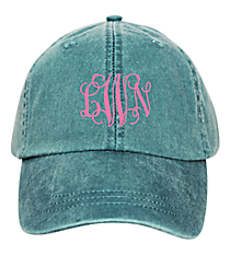 Washed Teal Baseball Cap