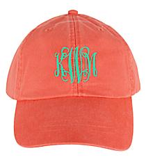 Washed Coral Baseball Cap