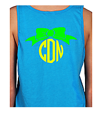 Bow Monogram Basic Tank *Customizable