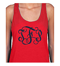 Large Vinyl Mongram Basic Tank *Customizable