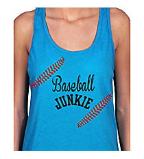 """Baseball Junkie"" Basic Tank Design SP51 *Choose Your Colors"