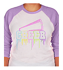 Liquid Cheer 3/4 Sleeve Raglan Tee 14968  *Choose Your Shirt Color