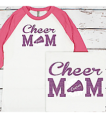 Cheer Mom 3/4 Sleeve Raglan Tee #BB453 *Personalize Name and Colors