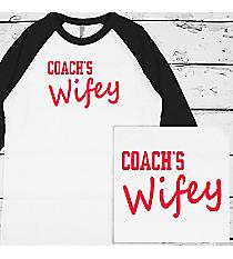 Coach's Wifey 3/4 Sleeve Raglan Tee #BB453 *Choose Your Colors