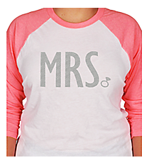 MRS with Ring 3/4 Sleeve Raglan Tee *Choose Your Colors
