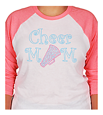 """Cheer Mom"" 3/4 Sleeve Raglan Tee CD02 *Choose Your Colors"