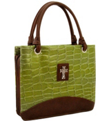 Green Croco Large Purse-Style Bible Cover #BBL343