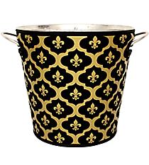 Black and Gold Fleur de Lis Cover and Ice Bucket Set #BCVR-FDL