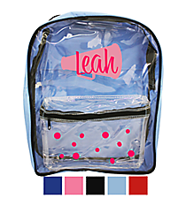 Clear Backpack #-BGBP-601BW * Customizable