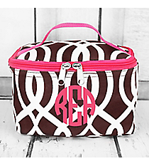 Brown Trellis Case with Hot Pink Trim #BIQ277-BROWN