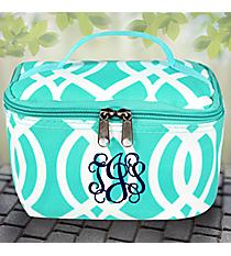 Aqua Trellis Print Case #BIQ277-AQUA