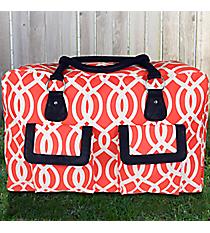 Coral Trellis Weekender Bag #BIQ737-CORAL