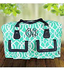 Mint Trellis Weekender Bag #BIQ737-MINT