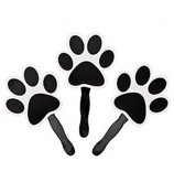 One Dozen Black Paw-Shaped Fan #3/6333