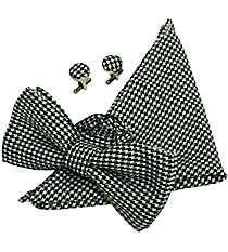 Houndstooth Bow Tie Set #980