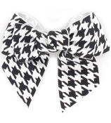 Houndstooth Double Bow Hair Clippy #SL1427W