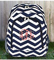 Navy and White Chevron Backpack #BP5016-165-N/W