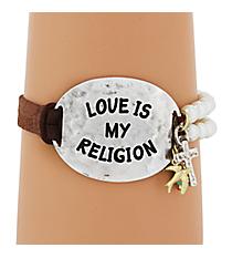 Love is My Religion Toggle Bracelet #8430B-RELIGION