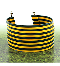 Green and Yellow Stacked Bangle Cuff Bracelet #BB6098-GRN/YEL