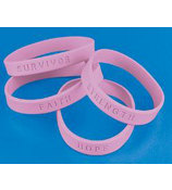 24 Breast Cancer Sayings Bracelets #24/1654