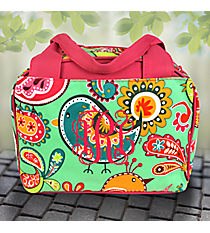 Paisley Chick Insulated Bowler Style Lunch Bag with Hot Pink Trim #BRQ255-H/PINK