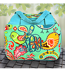 Paisley Chick Insulated Bowler Style Lunch Bag with Turquoise Trim #BRQ255-TURQ