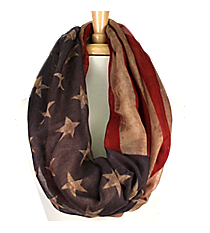 Vintage American Flag Infinity Scarf #EASC8092-BE