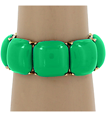 Mint Green Bubble Stretch Bracelet #QB3866-GDMGR