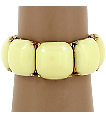 Natural Bubble Stretch Bracelet #QB3866-GDNT