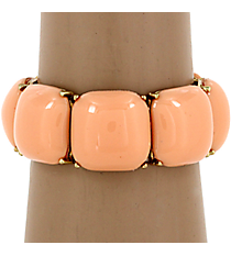 Peach Bubble Stretch Bracelet #QB3866-GDPE