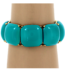 Turquoise Bubble Stretch Bracelet #QB3866-GDTQ